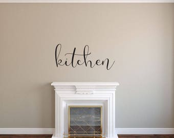 Kitchen - Vinyl Decal Wall Art Decor Sticker - Home Decor Kitchen Dining Area House Oven Fridge Sink Cooking Bar Table