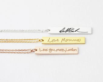 Handwritten Necklace • Signature Necklace • Handwritten Jewelry • Personalized Handwriting Jewelry •  Signature Gift - CHN09