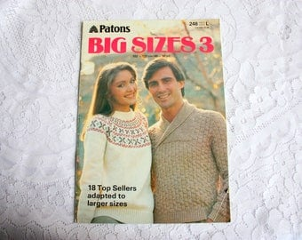 Patons 248, Sweaters for Big Sizes, Plus Size Sweaters, Vests, Cardigans for him and her