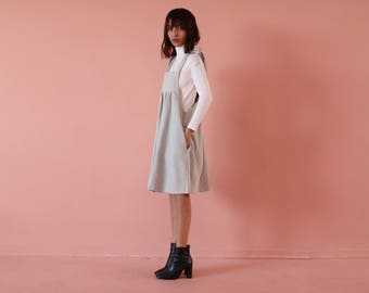 Pinafore dress, denim dress,short pinafore,  denim pinafore, loose fitting dress,boho dress, casual dress