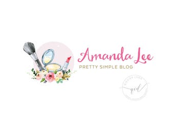 Premade Logo Design, Great for Beauty Blog, Photography, Feminine, Make up Business, Cosmetics and Beauty Salon with watermark