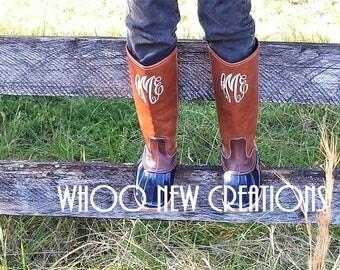 Monogrammed Duck Boots Tall Duck Boots Calf Duck Boots Chloe Duck Boots bean duck boots preppy duck boots rubber duck boots ankle duck boots
