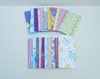 Paper Pocket Pack, Handmade Pockets, Paper Accessories, Embellishment Pocket, 22 Pocket Pack, Envelope Pocket Pack, Designer Paper Set,