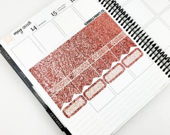 Posey // Glitter Sampler - Rose Gold (44 Planner Stickers)