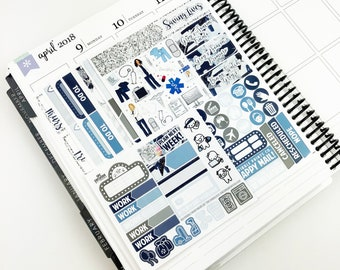 Saving Lives // Ultimate Weekly Planner Kit (Glossy Planner Stickers)