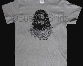 The Hound Graphic T Shirt Top Mens & Ladies Sandor Clegane Game Of Thrones Inspired