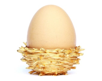 Gold Nest egg cup