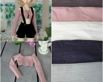 5 colors of shortened top  for Minifee, Unoa, Narae, MSD BJD dolls 1/4 size