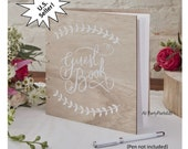 wood guest book, wooden guest book, barn wedding sign in, rustic, graduation party, boho baby shower, natural, woodland, spring, summer