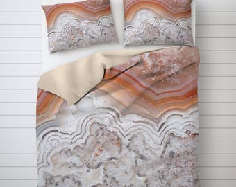 Agate Duvet Cover, Abstract Bedding, Mineral Photo Decor, Unique Duvet Covers, Picture Duvet Cover, Twin Duvet Covers, Gray Duvet Cover