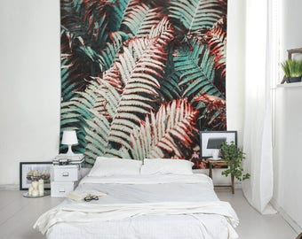 Dorm Tapestries, Plant Tapestry, Leaf Wall Decoration, Room Tapestry, Large Tapestries, Cloth Wall Hangings, Tapestry Store