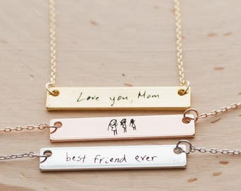 Handwriting Necklace Personalized Handwriting Jewelry mom gift Signature Necklace
