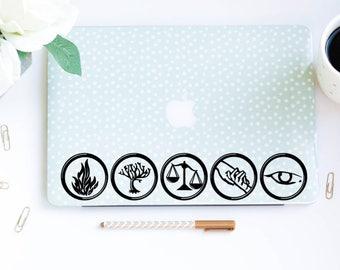 Divergent Symbols Computer Laptop Car Decal Erudite Amity Abnegation Candor Dauntless