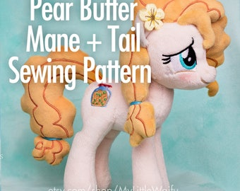 Pear Butter/Buttercup Mane + Tail Sewing Pattern