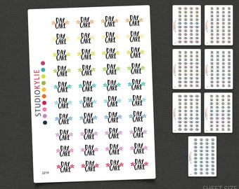 Day Care Stickers - Planner Stickers -Repositionable Matte Vinyl to suit all planners