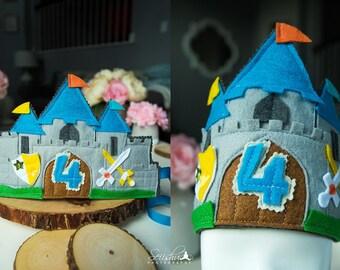 Castle Birthday Crown, Boy Birthday Crown, Castle Birthday, Castle Birthday Crown, Baby 1st Birthday, Baby Boy Crown, Sword, Custom Crown