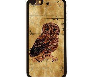Vintage Owl cute iPhone 8 Plus Case iPhone 7 Case iPhone 6s iPhone 4 iPhone SE case iPhone 5S case Samsung Galaxy S4 case Samsung Galaxy S3
