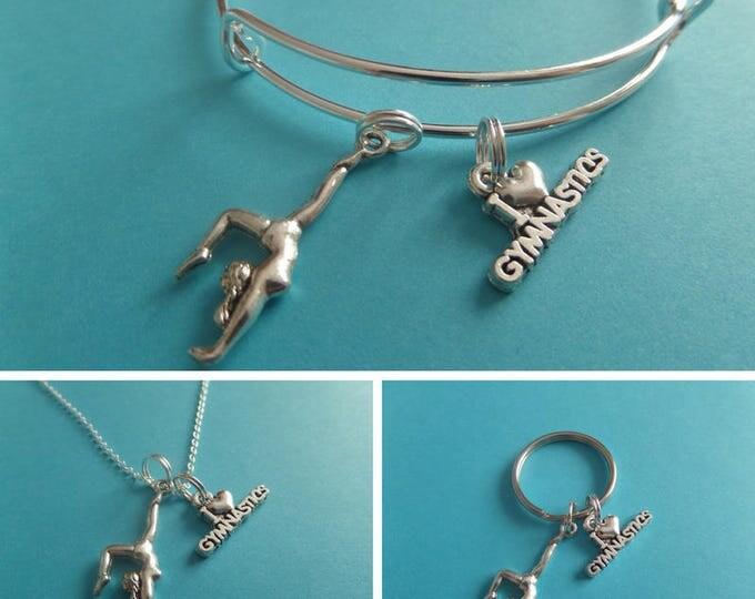 Gymnastics necklace, gymnastics gift, novelty gift, gymnast jewelry, gymnast necklace, xmas gift, love gymnastics, gym gift, sandykissesuk