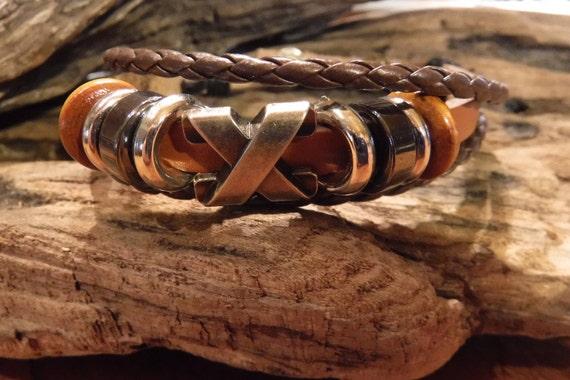 Hippy Leather Bracelet Surfers Bracelet Tribal Leather Bracelet Adjustable African Beach Leather Bracelet Kiss Bracelets Friendship Bracelet