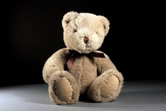 Stuffed Animal, Teddy Bear, T L Toys, Light Brown, Fluffy, Soft