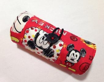 Crayon Roll-Up, Roll Up Crayon Holder, Crayon Roll, Fabric Crayon Roll, Homemade Crayon Roll, Christmas Gift, Gift for Boy, Gift for Girl