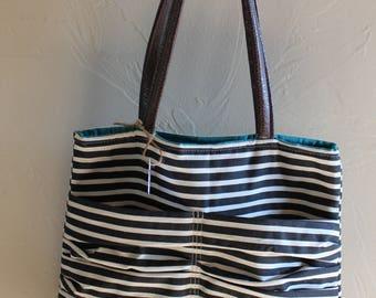 Ruched Pocket Tote Bag