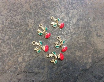 Reindeer charms Set of 5 high quality charms Great for adjustable bangles Christmas and Holiday Jewelry Making Charms