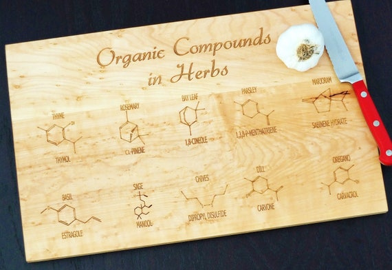 Organic compounds cutting board or serving board.
