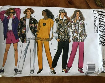 Butterick 3025 - 1990s Jacket, Loose Fitting Top, Shorts, and Pants - Size L XL