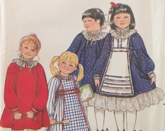 Butterick 4140 - 1970s or 80s Girl's Tabard and Dress - Size 3 Breast 22