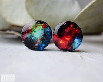 Pair plugs Galaxy image ear wood Gauges 4,5,8,10,12,14,16,18,20,22,25-60mm;6g,4g,2g,0g,00g;1/4,5/16,3/8,1/2,9/16,5/8,3/4,7/8,1 1/4,1 9/16""