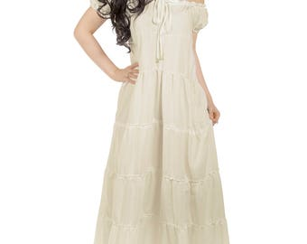 La Boheme Renaissance Boho Chemise Dress Unsmocked Gown