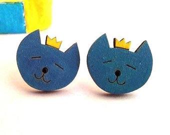 Cat Earrings, Cat Stud Earrings, Kitty Earrings, Cat Lover Earrings, Cat Lover Jewelry, Cat Lover Gift, Cat Lady Gift, Cat Jewelry, Cat Gift