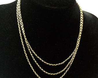 Early 20th Century 9ct Belcher Link Chain Necklace