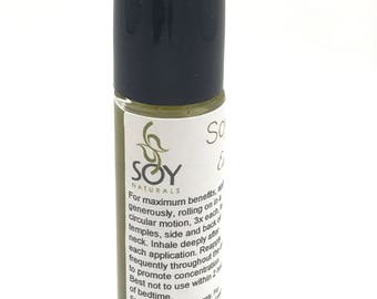 Meditation Essential Oil Blend, Hand Made With Pure Essential Oils 10ml Roll On Bottle