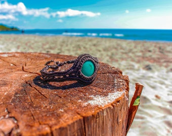Elegant Turquoise Macrame Bracelet
