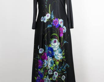 Vintage Dress // Flowers// Maxi Dress