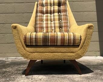 "Mid Century Modern ""His"" Bassett lounge chair"