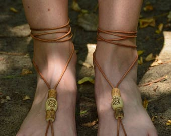 Earthing babies - barefoot bohemian sandals - root chakra