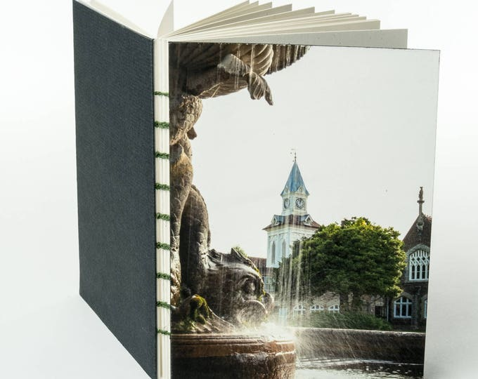 OAKLEY COURT FOUNTAIN | small handmade coptic bound blank book diary journal notebook original cover photo | aBoBoBook