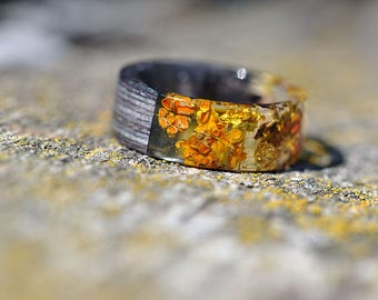 Unique Mens Wedding Band Ring Men Resin Jewelry