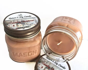 Vegan Candles- Country Christmas Soy Candle- Scented Candle- Holiday Gifts- Holiday Scents- Winter Scents