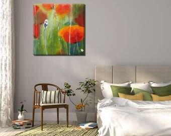 Canvas Painting, Flower Art Painting, Oil Painting Flowers, Contemporary Art, Flower Art, Original Painting, Original Artwork