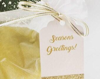 Christmas Tags - Holiday Gift Tags - Christmas Gift Tags - Glitter Gift Tags - Merry Christmas Tag - Let it Snow - Happy Holidays Gift Tags
