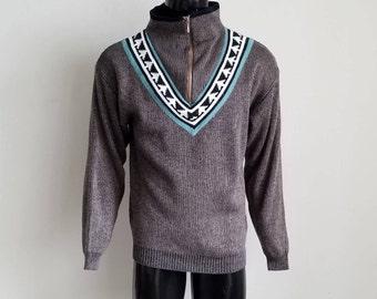 Vintage 1/4 Zip Sweater Sz. M
