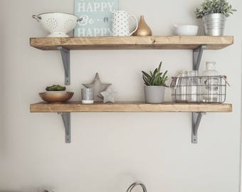 Rustic wooden chunky SCAFFOLD BOARD style SHELF, chunky shelves, Free shipping