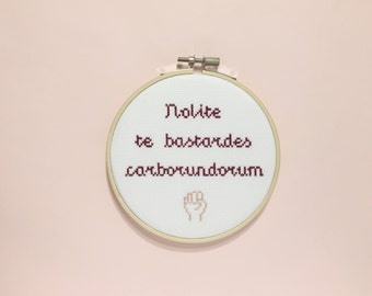 The Handmaid's Tale Cross Stitch, Margaret Atwood, Feminist Art, Inspirational Wall Art, Feminism, Literary Gifts, TV Show, Home Decor
