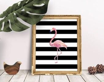 Flamingo Nursery | Flamingo Wall Art, Flamingo Baby Room, Flamingo Printable, Flamingo Clip Art, Flamingo Print, Jungle Art Nursery