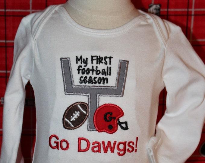 Baby boy Football bodysuit,Baby girl Football bodysuit,Georgia Bulldog bodysuit,University of Georgia, Dawgs,New baby gift,Georgia Bulldogs