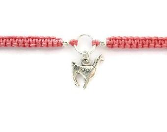 Llama Bracelet / Macrame Bracelet / Llama Charm / Friendship Bracelet / Gift / Macrame Stacking Bracelet / Colourful Bracelet / Llama Gift